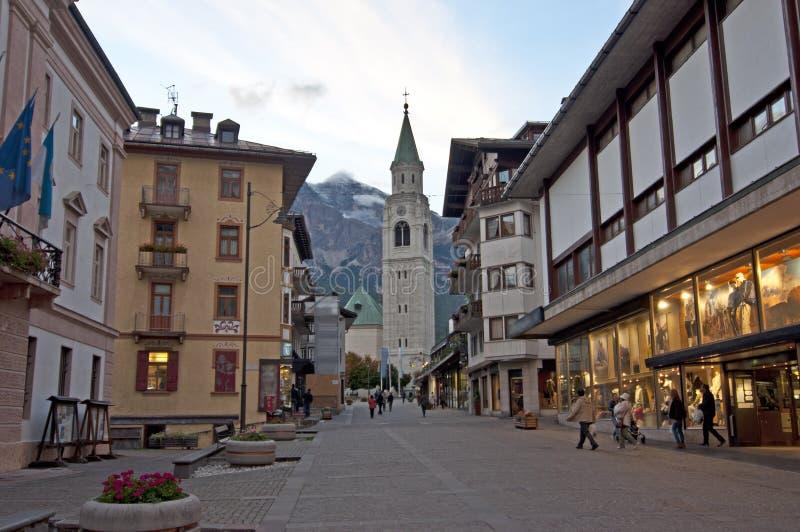 Cortina d'Ampezzo, Italy. stock photo