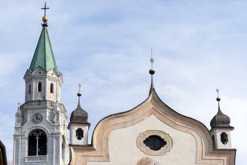 CORTINA D'AMPEZZO, VENETO/ITALY - 27. MÄRZ: SS Philip und Jakob stockbild