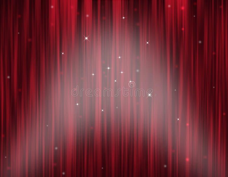 Cortina da fase do teatro ilustração royalty free