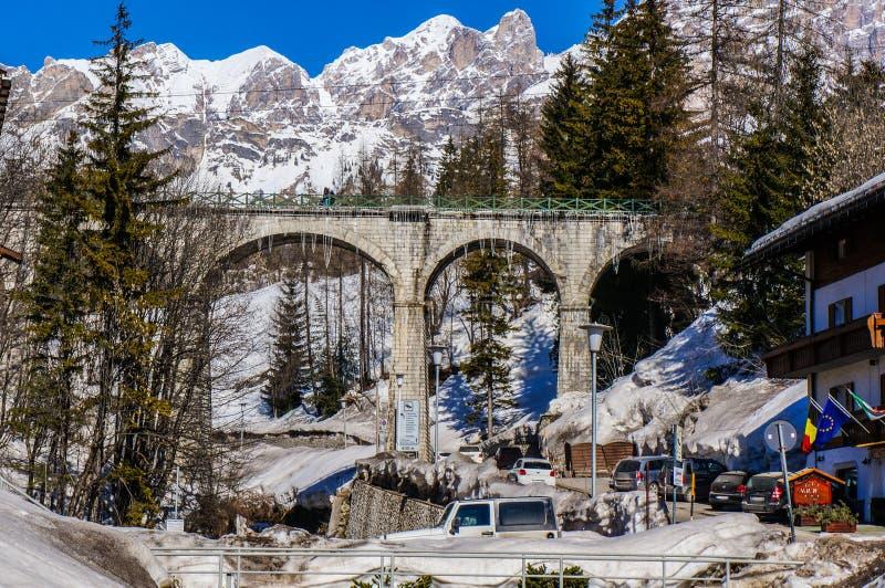 Cortina de Ampezzo Италия стоковые фотографии rf