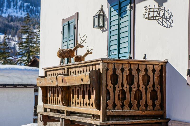 Cortina de Ampezzo l'Italie image stock
