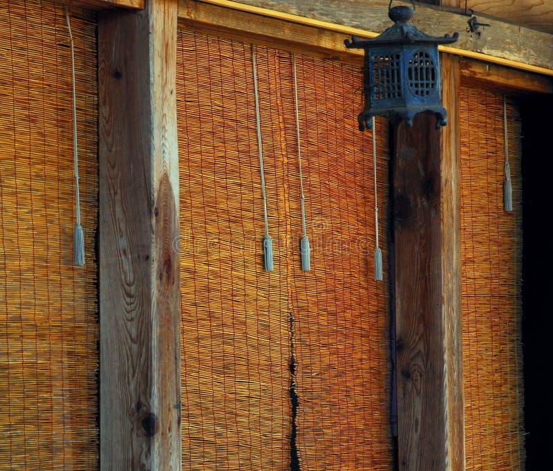 Cortina de bambu fotografia de stock