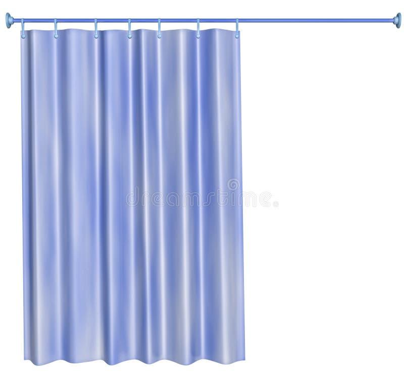 cortina de chuveiro ilustração stock