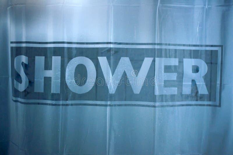 Cortina de ducha fotos de archivo libres de regalías