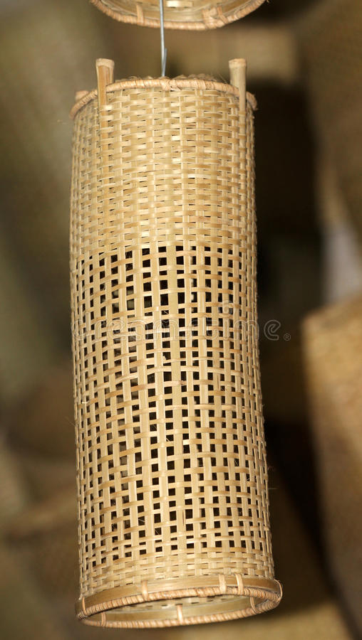 Cortina de lámpara de bambú