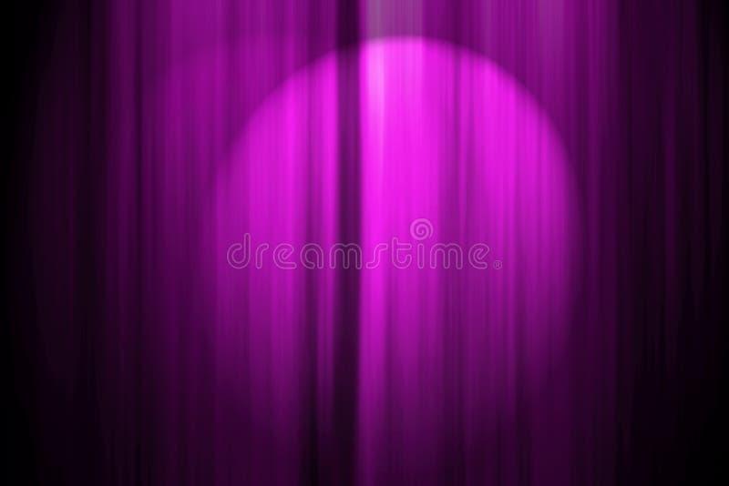 Cortina de la etapa del teatro ilustración del vector