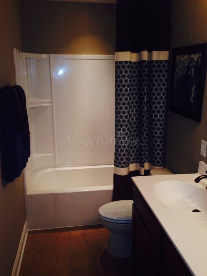 Cortina de la tina de baño foto de archivo