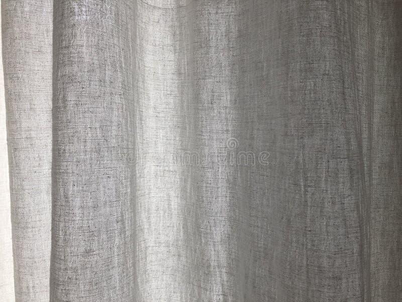 Cortina de lino en un fondo 01 del día soleado imagenes de archivo