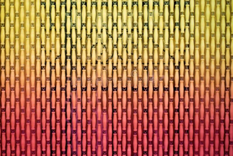 Cortina de madera en la entrada como un fondo o contexto foto de archivo libre de regalías