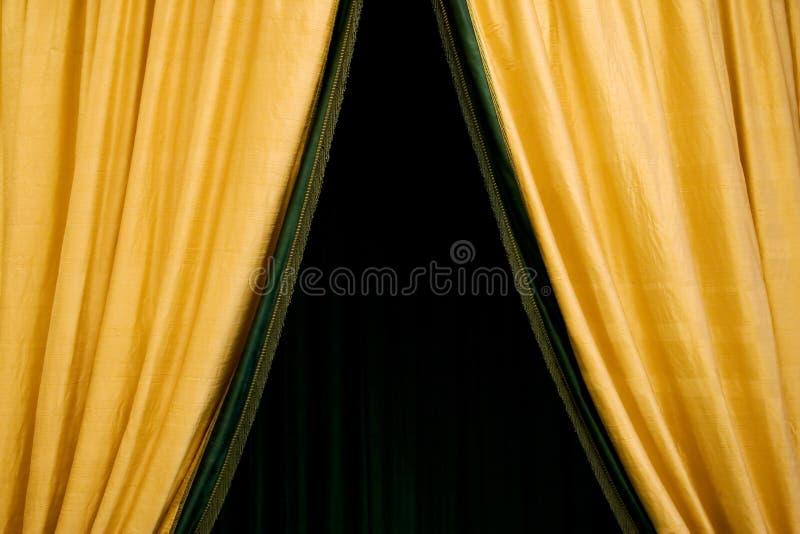Cortina de oro imagen de archivo