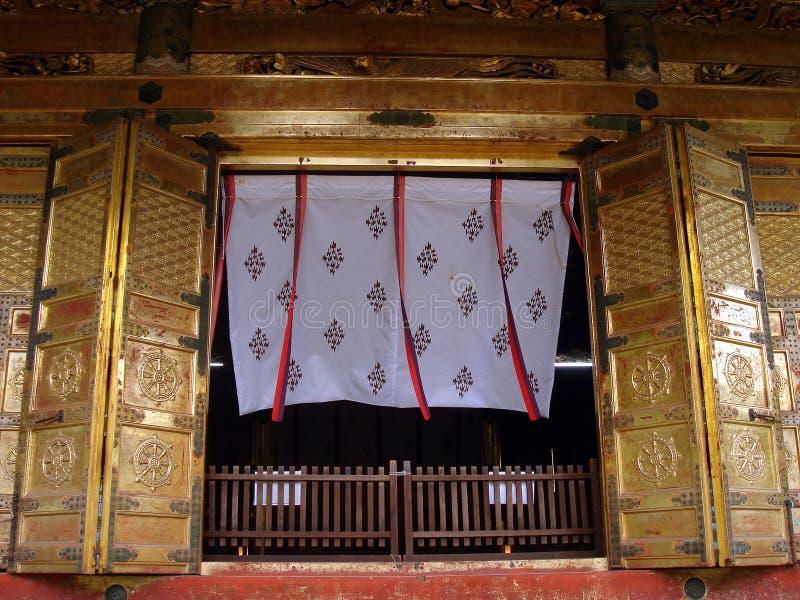 Cortina de puerta del templo imagen de archivo