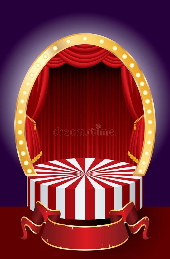 Cortina del circo libre illustration
