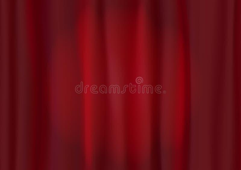 Cortina del rojo del teatro stock de ilustración