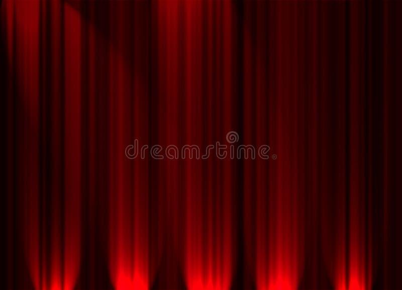 Cortina del teatro stock de ilustración