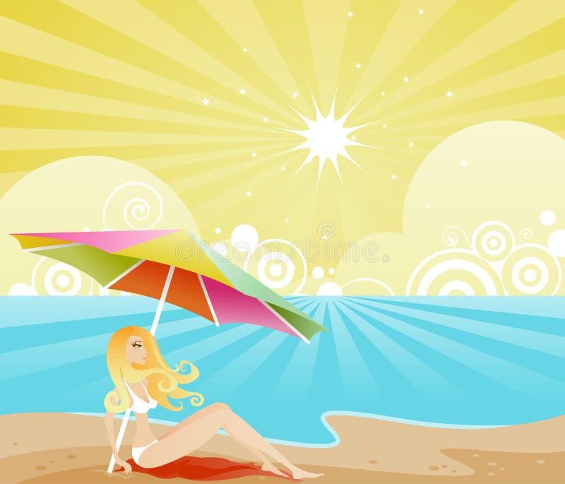 Cortina del verano stock de ilustración