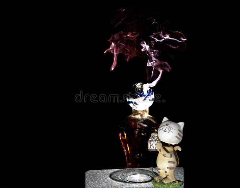 Cortina di fumo (tif&jpg) fotografia stock