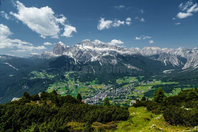 Cortina di A'mpezzo and mountains 3 royalty free stock photo
