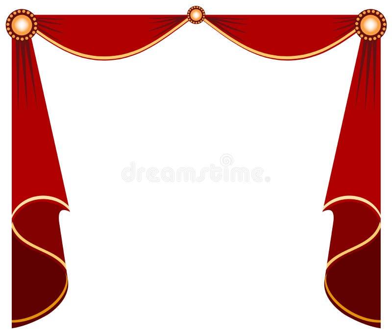 Cortina do estágio ilustração royalty free