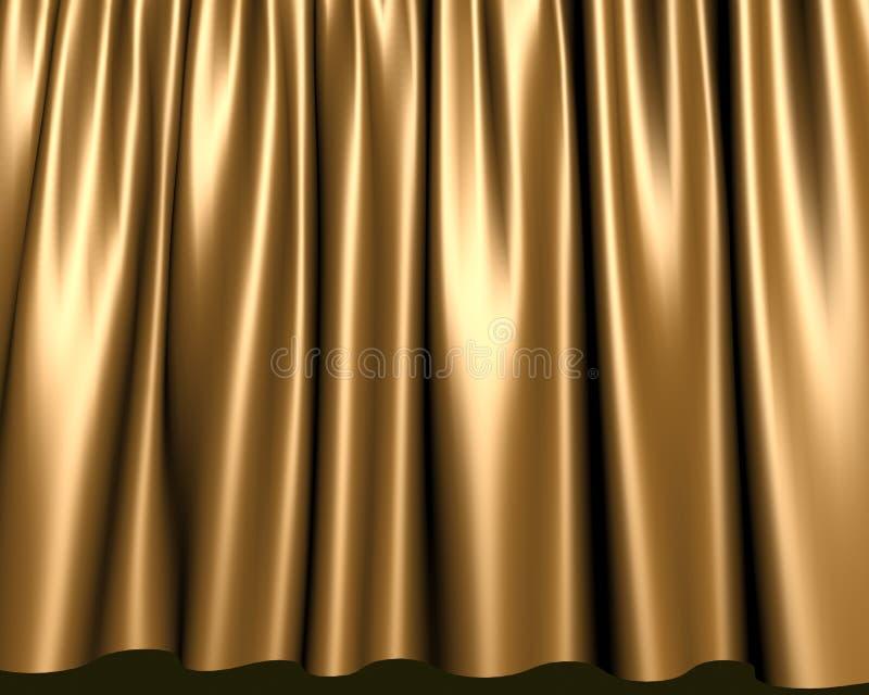 Cortina do estágio do ouro ilustração do vetor
