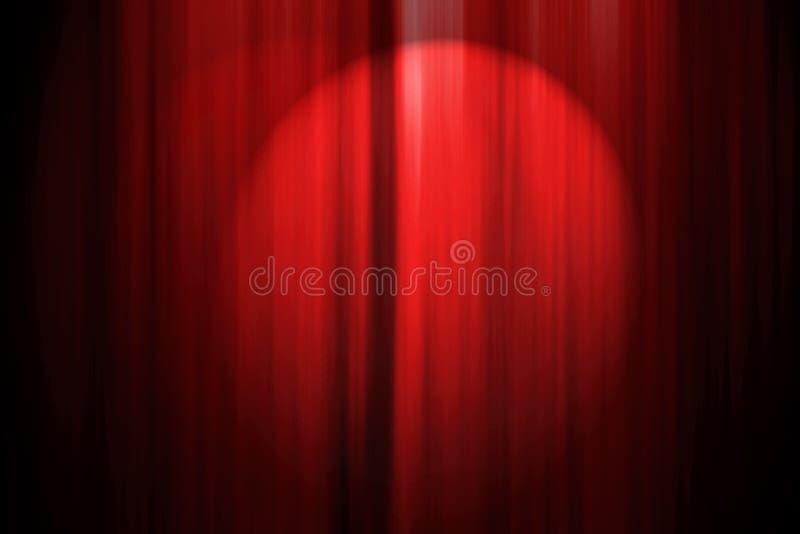 Cortina do estágio do teatro ilustração stock