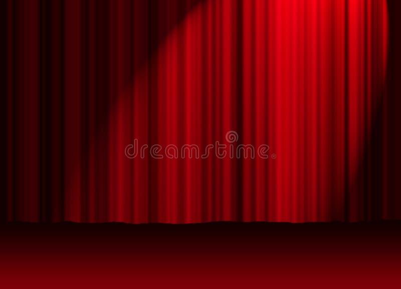 Cortina do teatro ilustração royalty free