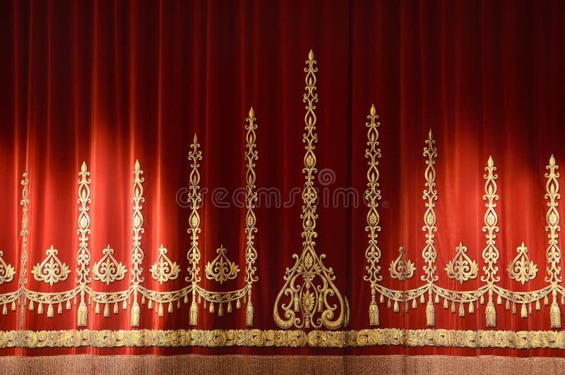 Cortina do teatro fotografia de stock royalty free