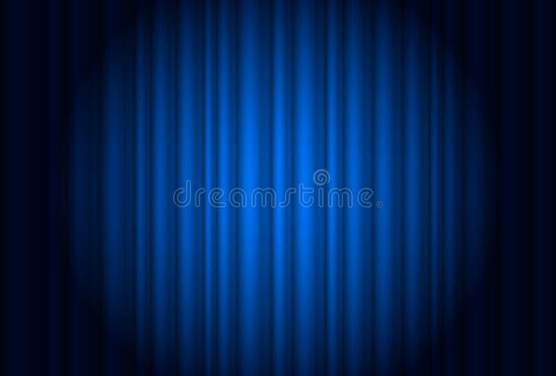 Cortina do teatro com um projector ilustração do vetor