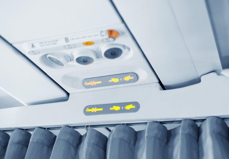 Cortina entre las cabinas del aeroplano. foto de archivo libre de regalías