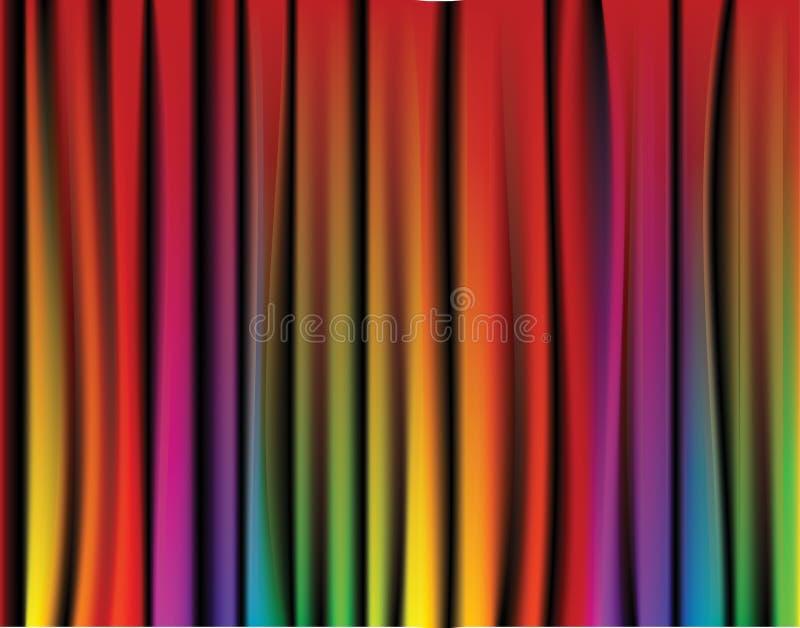 Cortina fresca do arco-íris ilustração stock