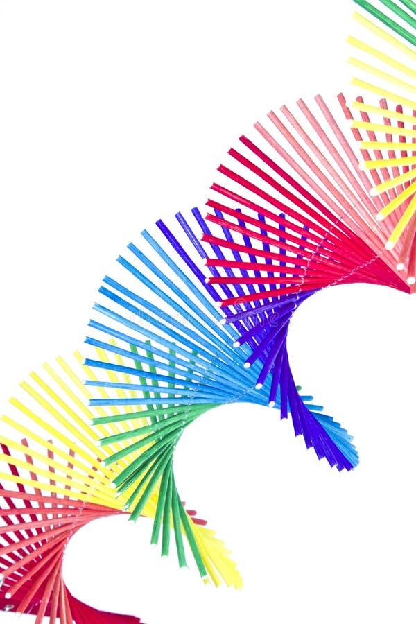 Cortina multicolora de la hierba que se encrespa imagenes de archivo