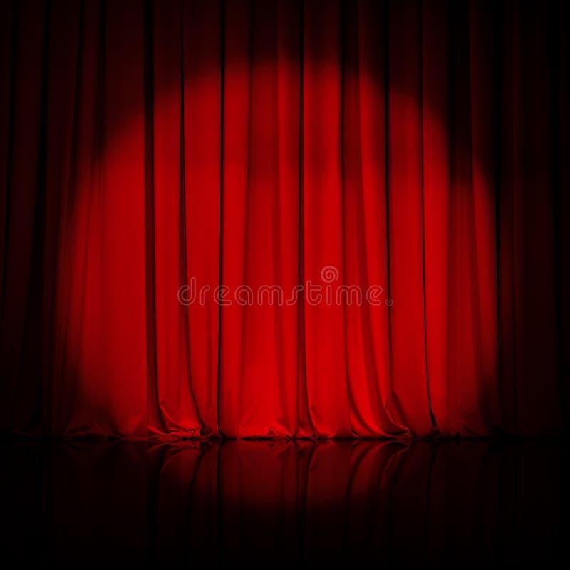 A cortina ou drapeja o fundo vermelho fotografia de stock royalty free