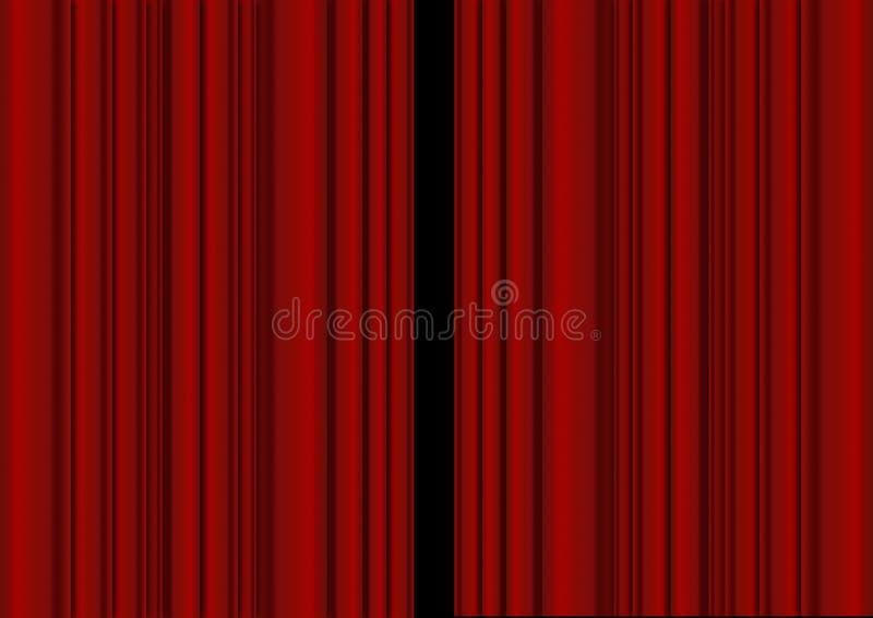 Cortina roja stock de ilustración