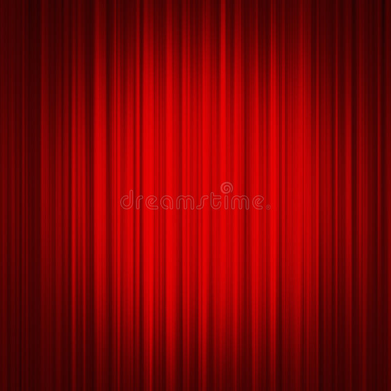 Cortina roja foto de archivo