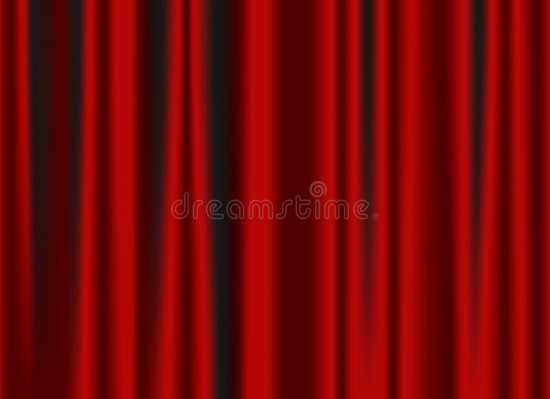 Cortina roja clásica foto de archivo libre de regalías