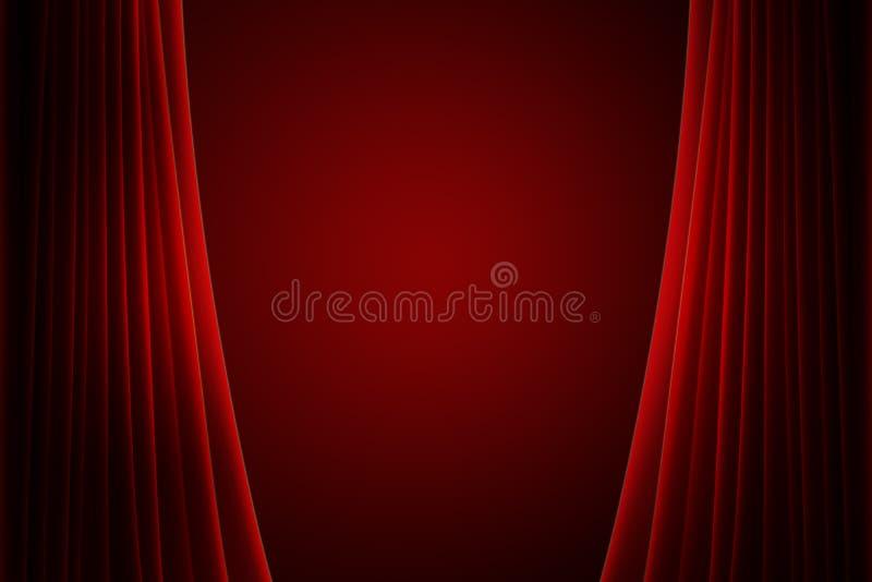 Cortina roja de la etapa ilustración del vector