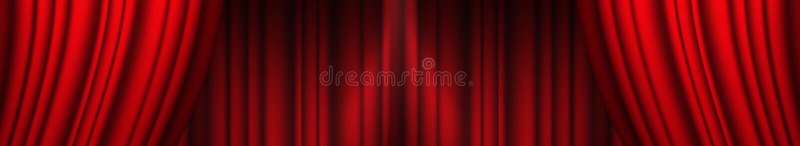 Cortina roja del teatro libre illustration