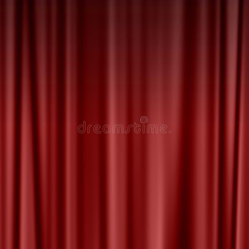 Cortina roja del teatro o del cine stock de ilustración