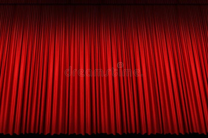 Cortina roja grande de la etapa fotografía de archivo