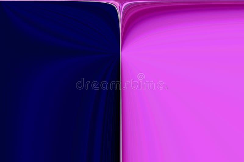 Cortina rosada y azul del contexto stock de ilustración