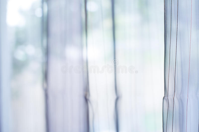 Cortina transparente na janela imagem de stock royalty free