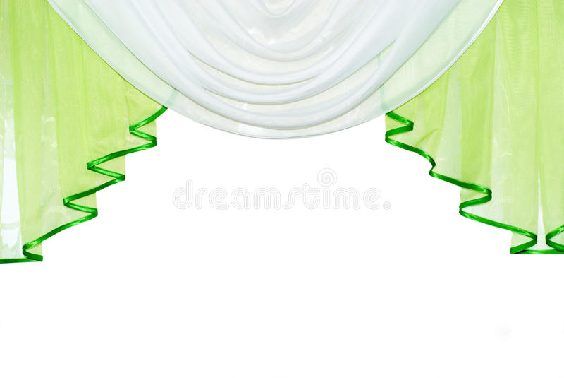 Cortina verde fotografia de stock royalty free