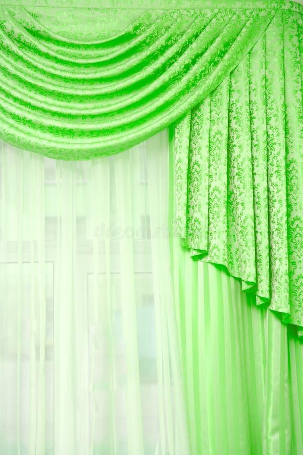 Cortina verde foto de stock