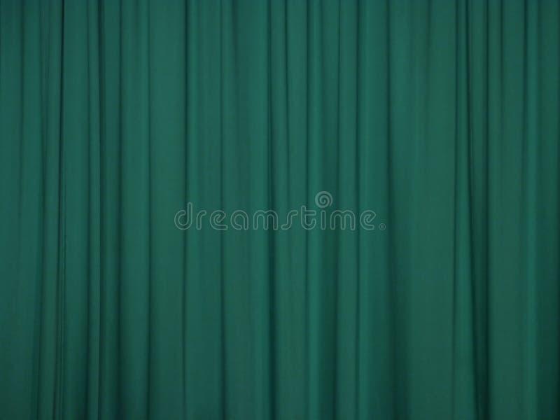 Cortina verde imagen de archivo libre de regalías
