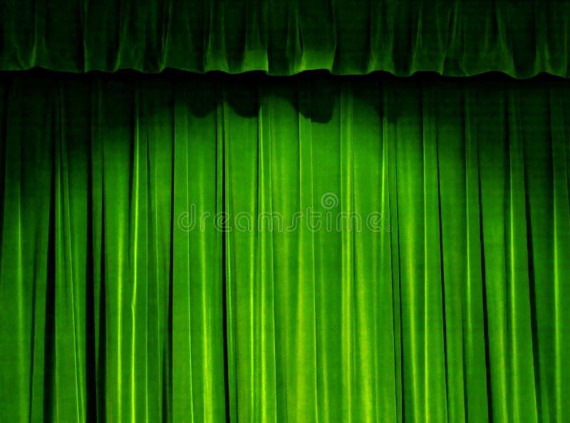 Cortina verde do teatro imagem de stock royalty free
