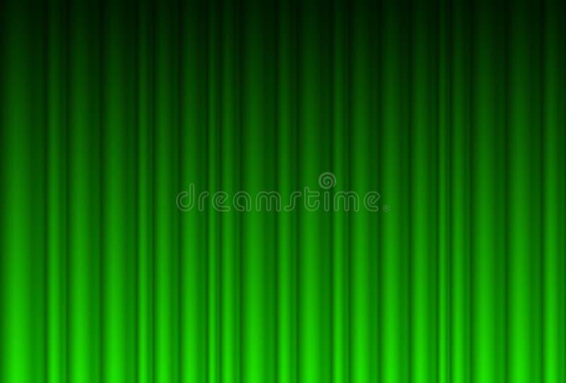 Cortina verde realística ilustração stock