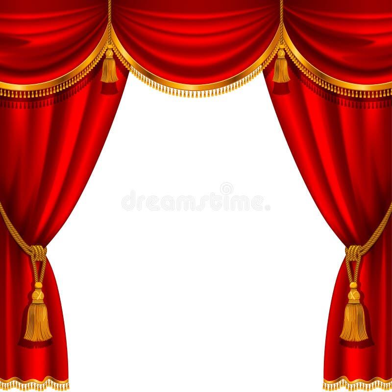 Cortina vermelha ilustração royalty free