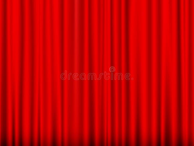 Cortina vermelha ilustração stock