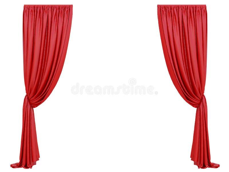 Cortina vermelha de um teatro ilustração do vetor
