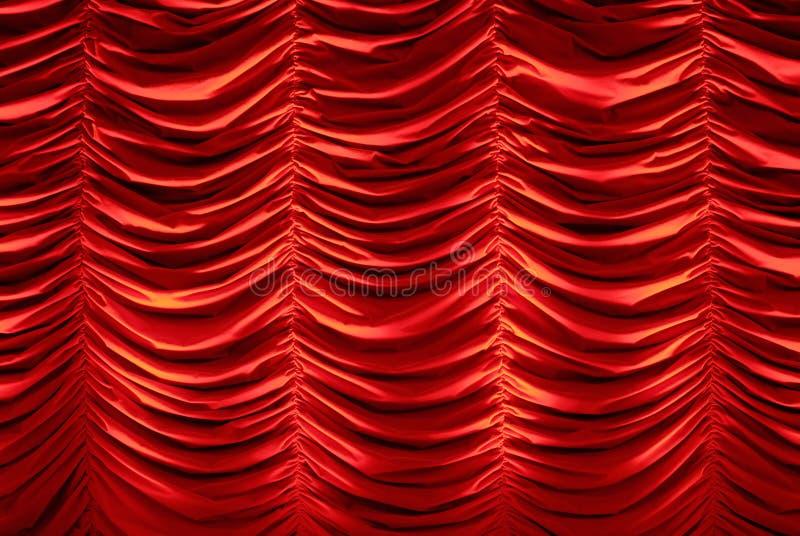 Cortina vermelha do estágio fotos de stock royalty free