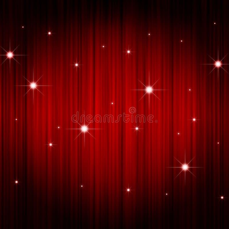 Cortina vermelha do teatro ilustração royalty free
